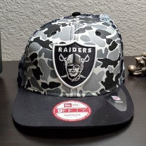 Raiders camo snapback